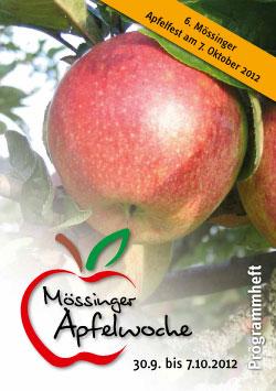 Programmheft der Mössinger Apfelwoche 2012