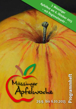 Programmheft der Mössinger Apfelwoche 2013