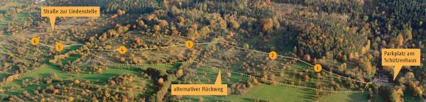 Übersichtskarte Panoramaweg Streuobst