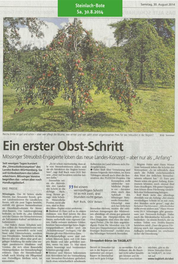Tagblatt vom 30.8.2014