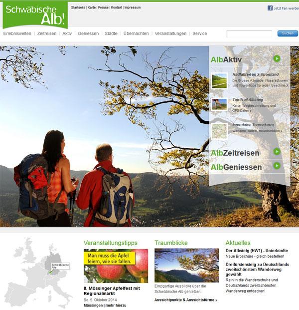 Unten links  auf schwaebische-alb.de im Wechsel mit anderen Veranstaltungen: das Mössinger Apfelfest.
