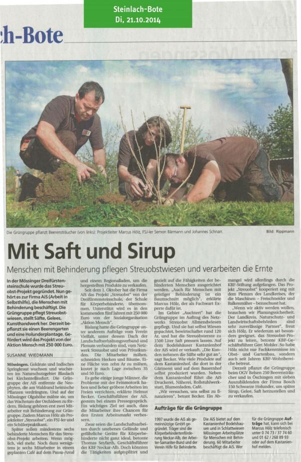 Steinlach-Bote, 21.10.2014