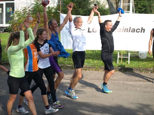 3. Mössinger Apfellauf - Zieleinlauf der Halbmarathondistanz