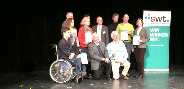 Gruppenbild mit OB: Die Sieger des Jurypreises