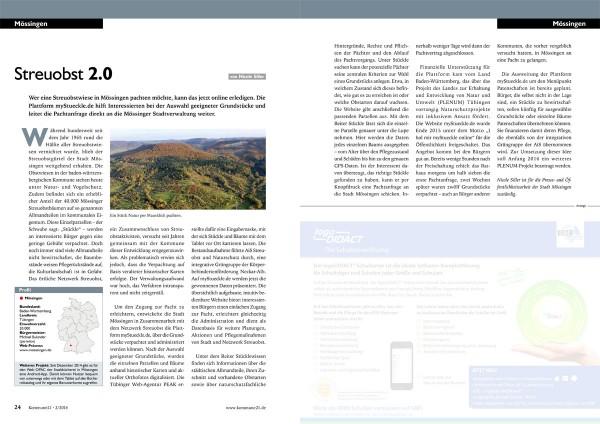 Doppelseite in der Fachzeitschrift: myStueckle.de
