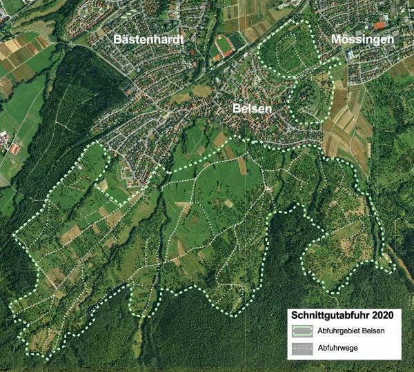 Abfuhrgebiet 2020 bei Belsen