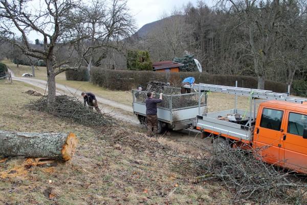 Parallel zur Schnittgutabfuhr werden weitere Landschaftspflegemaßnahmen durchgeführt.