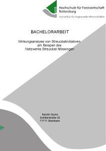 Bachelorarbeit über das Netzwerk Streuobst