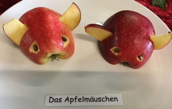 Apfelschneidekunst des Kindergartens Hinter Höfen