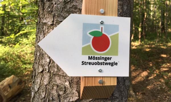 Markierung am Mössinger Streuobstwegle