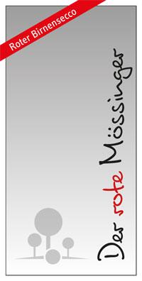 Der rote Mössinger - Etikett vorne