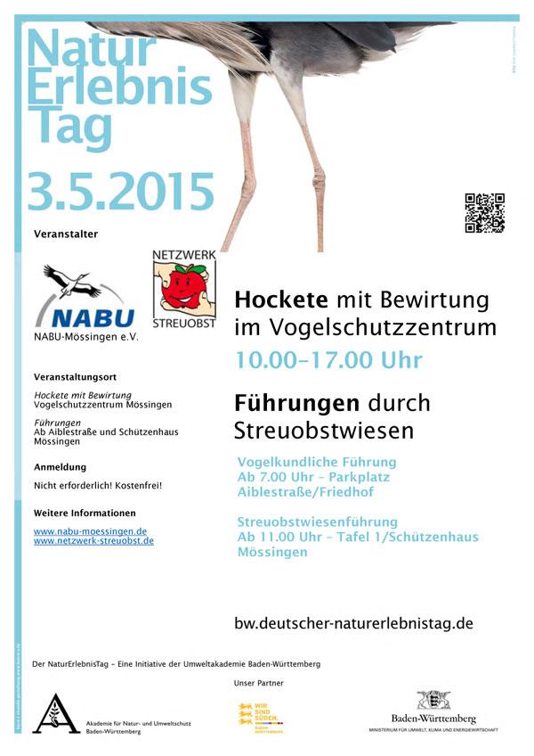 Plakat zum Naturerlebnistag 2015 in Mössingen