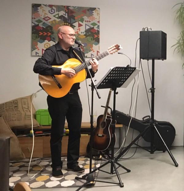 Wolfgang Pusch auf der Café-Pausa-Bühne