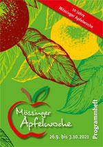 Programmheft der Mössinger Apfelwoche 2021