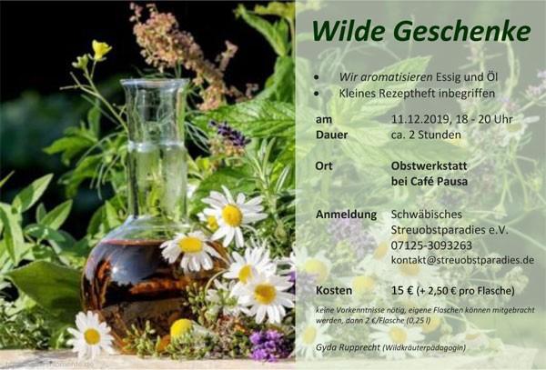 """Veranstaltung """"Wilde Geschenke"""""""